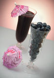 Blueberry juice and fresh fruits Royalty Free Stock Photography