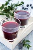 Blueberry juice Stock Photo