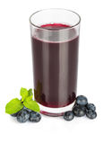 Blueberry juice Royalty Free Stock Image