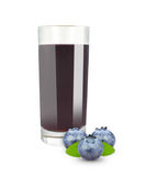 Blueberry juice Stock Photography