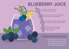 Blueberry Juice Infographic royalty free illustration