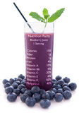 Blueberry juice nutrition facts Stock Images