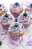 Blueberry and lavender cupcakes Royalty Free Stock Image