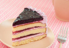 Blueberry layer cake Stock Image
