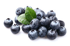 Blueberry with leaves Stock Photo