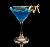 Blueberry lemon martini Royalty Free Stock Image