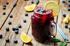 Blueberry lemonade Royalty Free Stock Photos