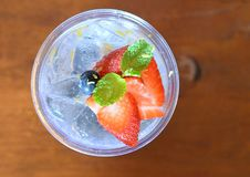 Blueberry Lemonade. This photo take from top view of Blueberry Lemonade Stock Image