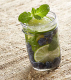Blueberry Lime Water Royalty Free Stock Images