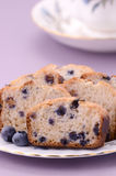 Blueberry loaf slices Stock Image
