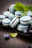 Blueberry macaroons Royalty Free Stock Images
