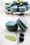 Blueberry macaroons Royalty Free Stock Photo