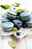 Blueberry macaroons Royalty Free Stock Photos