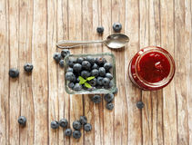 Blueberry marmelade Stock Images