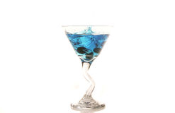 Blueberry Martini. With blueberry dropped in Royalty Free Stock Images