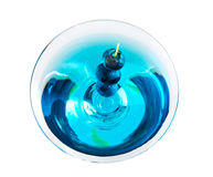 Blueberry Martini From Above Royalty Free Stock Photography