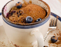 Blueberry  Microwave mug  Muffin Royalty Free Stock Photography