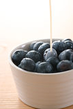 Blueberry and milk Stock Photography