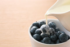 Blueberry and milk Royalty Free Stock Photos