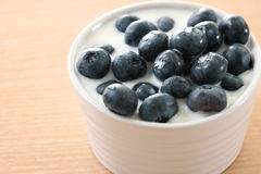 Blueberry and milk Royalty Free Stock Images