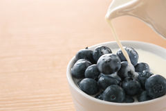 Blueberry and milk Royalty Free Stock Photo