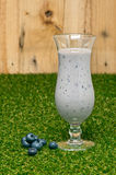 Blueberry milk shake Royalty Free Stock Images