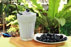 Blueberry milk shake Stock Photo