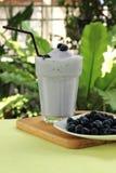 Blueberry milk shake Royalty Free Stock Photos