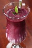 Blueberry milk shake with sour cream Stock Photos