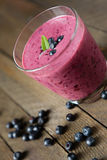 Blueberry milk shake Stock Image