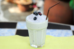 Blueberry milk shake Stock Images
