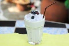 Blueberry milk shake Stock Images