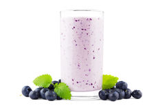 Blueberry milkshake Stock Photos