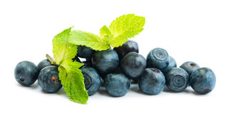 Blueberry with mint Stock Photos