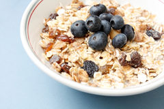 Blueberry muesli Stock Photos