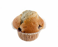 Blueberry Muffin. A blueberry muffin isolated over a white background royalty free stock photo