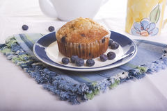 Blueberry Muffin. And Orange Juice stock photography