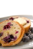 Blueberry muffin with butter Royalty Free Stock Images