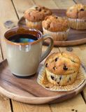 Blueberry Muffin and Coffee Stock Images