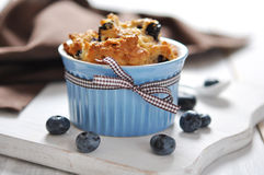 Blueberry muffin. Homemade blueberry muffin with fresh blueberry  closeup Royalty Free Stock Photos