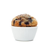 Blueberry muffin. Isolated on white background Royalty Free Stock Photo