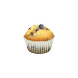 Blueberry muffin in paper cupcake holder Stock Photo