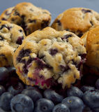 Blueberry muffin stack Royalty Free Stock Photo
