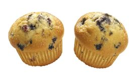Blueberry Muffins. Isolated on a white background. Isolation is on a transparent layer in the PNG format royalty free stock photography