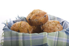 Blueberry Muffins. In a Basket royalty free stock image