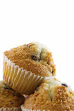 Blueberry Muffins. Isolated on a white background Stock Image