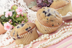 Blueberry Muffins Feminine Still life Royalty Free Stock Photos