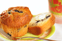 Blueberry muffins and juice Royalty Free Stock Photos