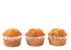 Blueberry muffins on white Royalty Free Stock Images