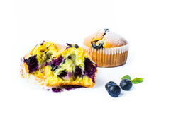 Blueberry muffins  on white Royalty Free Stock Photography